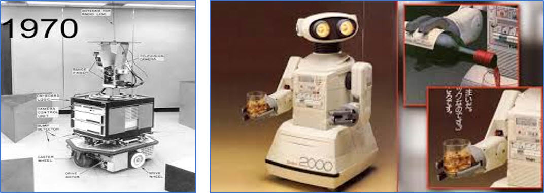 First and Second generation of Robots
