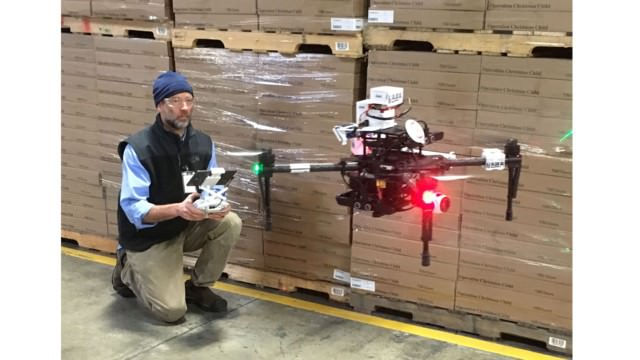 Autonomous Drone operating in a warehouse