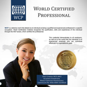 WORLD CERTIFIED PROFESSIONAL - WCP