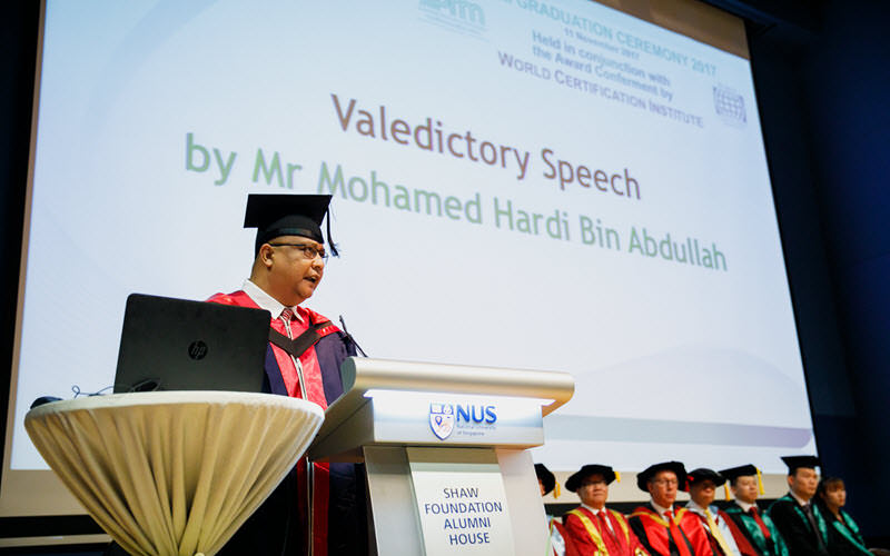 Valedictory Speech by Mohamed Hardi Bin Abdullah - SIPMM