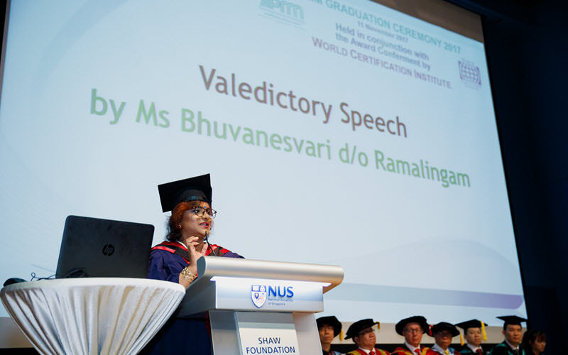 Valedictory Speech by R. Buvanesvari - SIPMM