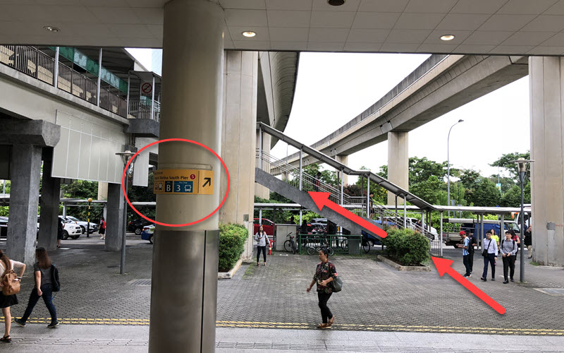 Jurong East MRT Exit B Overhead Bridge