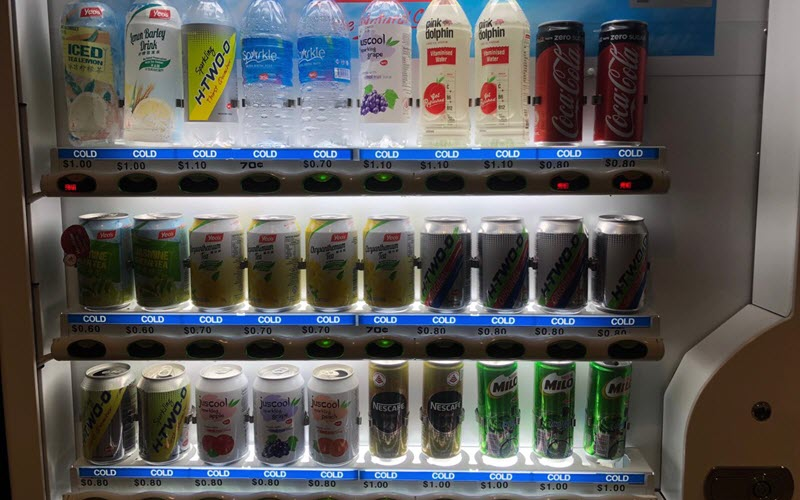 Drinks Vending Machine at Trade Association Hub Level 4
