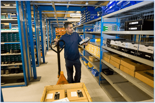 Warehouse Personnel picking in a warehouse