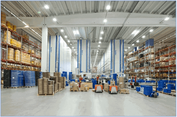 layout of a typical warehouse