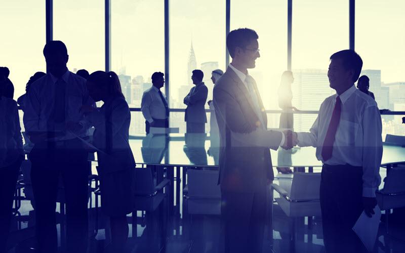 Business Networking handshake - SIPMM