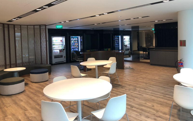 Chill-out-Corner at Trade Association Hub Jurong Town Hall Level 1