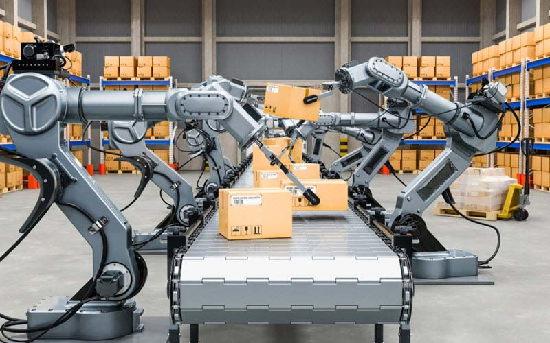 Automatic warehouse and robots - SIPMM