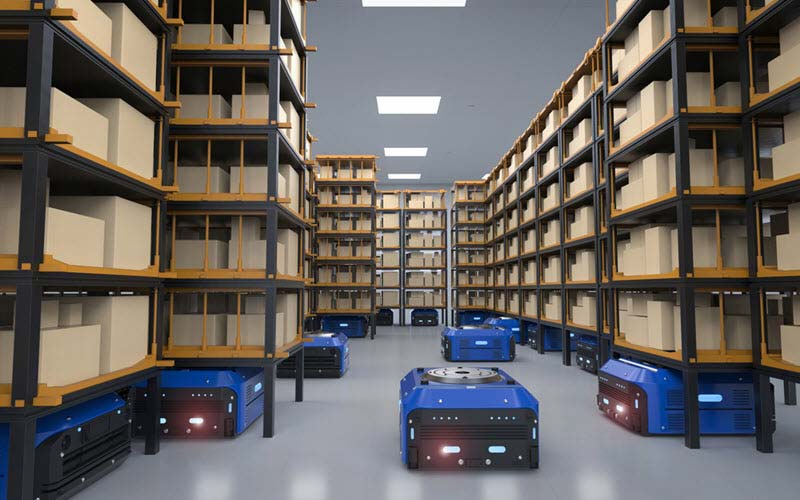 Warehouse robot in warehouse - SIPMM