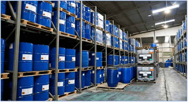 warehouse chemical drum Container