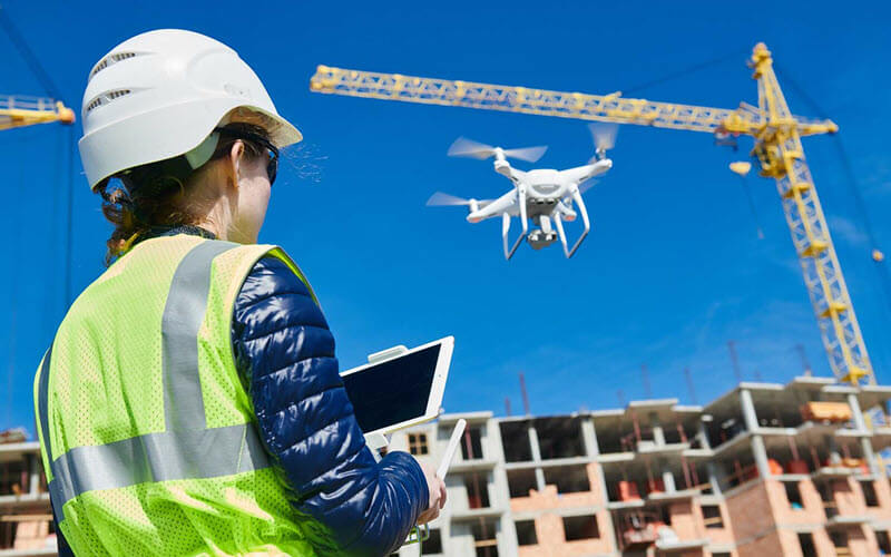 Drone Inspection Construction Site - SIPMM