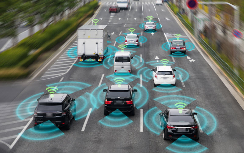 Wireless communication network of vehicles - SIPMM