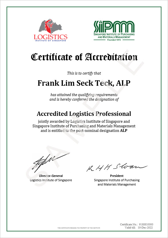 Accredited Logistics Professional (ALP) - SIPMM