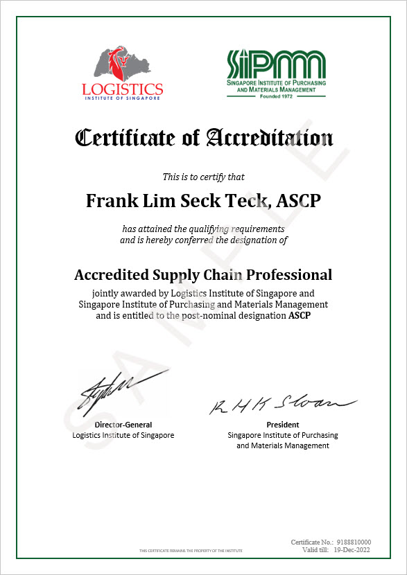 Accredited Supply Chain Professional (ASCP) - SIPMM
