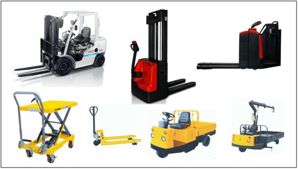 equipment used in warehouse